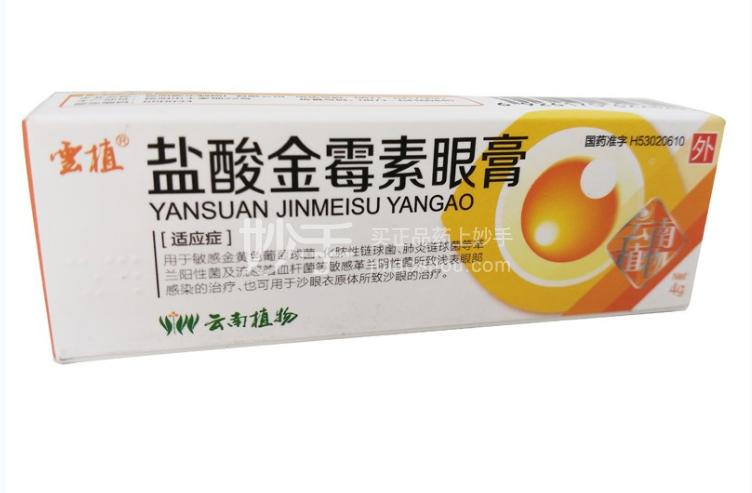 云植 盐酸金霉素眼膏 4g0.5%