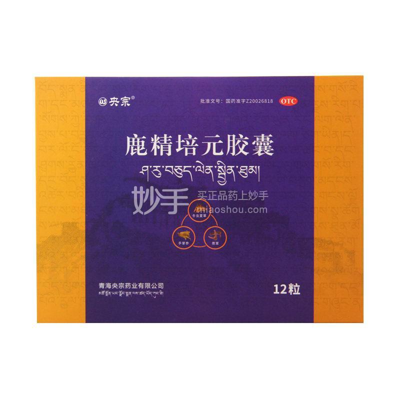 央宗 鹿精培元胶囊 0.3g*12粒
