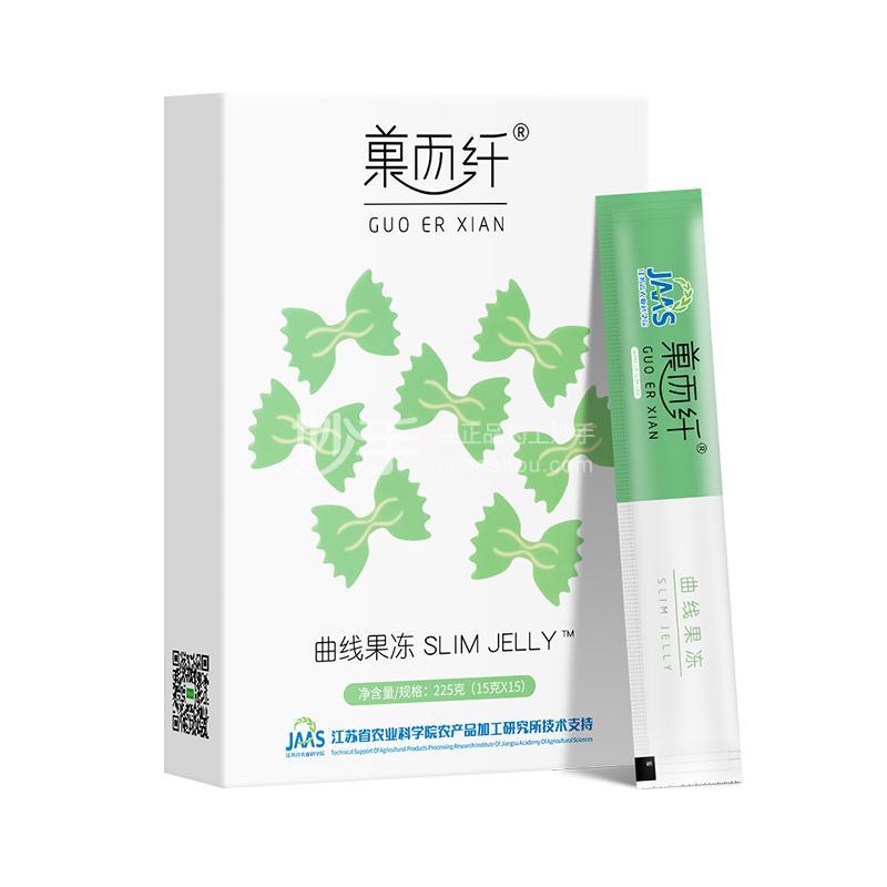 菓而纤 曲线果冻 225g(15g/条×15)