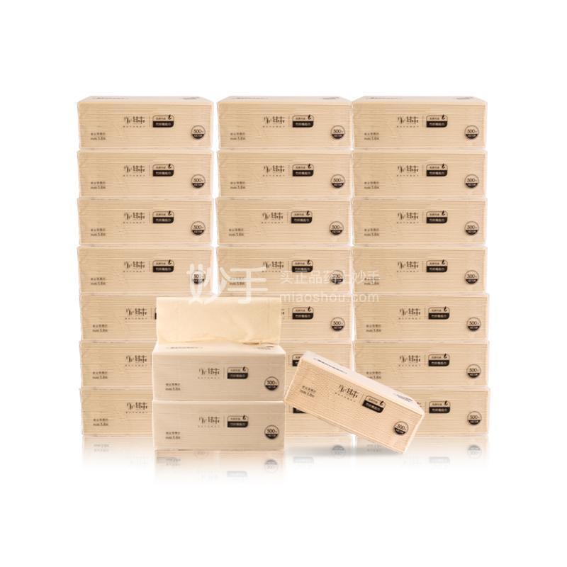 甘本 竹纤维抽纸  一箱24包(300张/包)